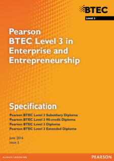 BTEC Level 3 Enterprise and Enterpreneurship specification