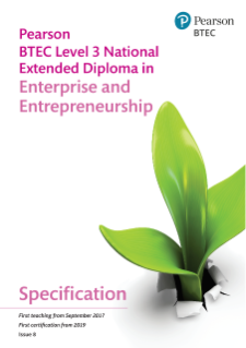Specification - Pearson BTEC Level 3 National Extended Diploma in Enterprise and Entrepreneurship