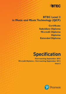 BTEC Level 3 Music specification