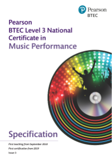 BTEC Level 3 Nationals Certificate in Music specification