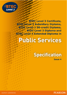 BTEC Level 3 Public Services specification