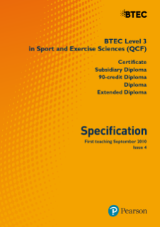 BTEC Level 3 Sport and Exercise Sciences specification