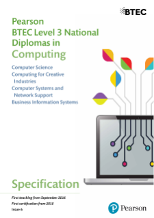 Specification - Pearson BTEC Level 3 National Diplomas in Computer Science