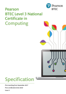 Specification - BTEC National Certificate in Computing level 3