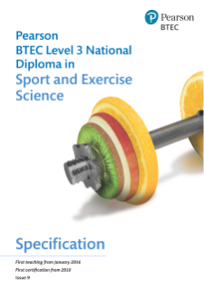 BTEC National Diploma in Sport and Exercise Science specification