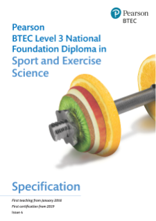 BTEC National Foundation Diploma in Sport and Exercise Science specification