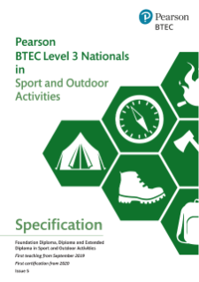 BTEC Level 3 Nationals Sport and Outdoor Activities: Specification