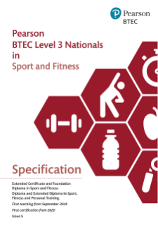BTEC Level 3 Nationals in Sport, Fitness and Personal Training: Specification