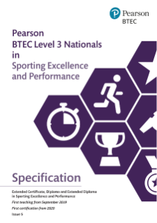 BTEC Level 3 Nationals Sporting Excellence and Performance: Specification