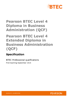 pearson btec level 4 hncd diploma Edexcel btec level 5 hnd diploma in public services (qcf)  pearson edexcel  hnc-d public services programme-specification page 8 of 9 5 distinctive features of .