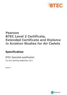 BTEC Level 2 Aviation Studies for Air Cadets specification