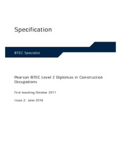 Specification - Diploma