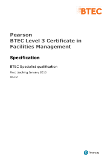 BTEC Level 3 Certificate in Facilities Management specification