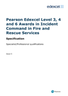 Pearson Edexcel Level 3 Award in Initial Incident Command in Fire and Rescue Services specification
