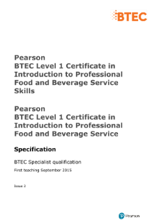 Food And Beverage Service Pdf