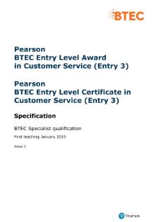 customer service qualification