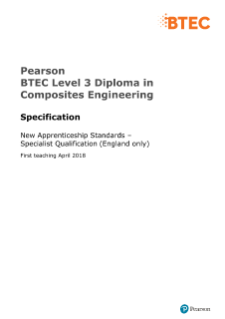 BTEC Specialist Qualification in Composites Engineering specification