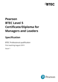 Managers and Leaders (L5) specification
