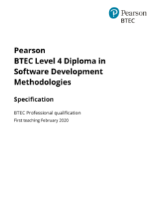 BTEC Specialist and Professional Software Development Methodologies (L4) specification