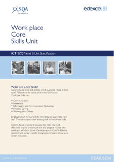 Edexcel Core Skills in Numeracy Level 6 Specification