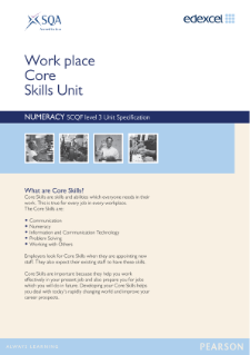 Edexcel Core Skills in Numeracy Level 3 Specification