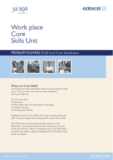 Edexcel Core Skills in Problem Solving Level 4 Specification