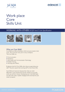 Edexcel Core Skills in Working with Others Level 3 specification