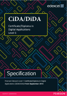 Edexcel Level 1 Digital Applications (CiDA/DiDA) specification