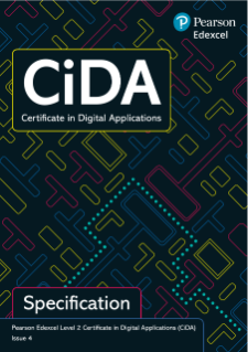 Edexcel Level 2 Certificate in Digital Applications (CiDA) specification