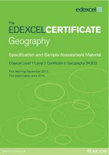 Edexcel Certificate in Geography specification