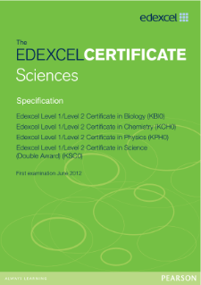 Edexcel Certificate in Chemistry specification