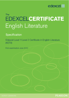 Edexcel Certificate in English Literature specification