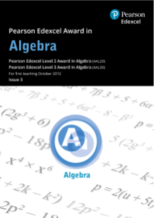 Pearson Edexcel Level 2 Award in Algebra