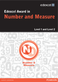 Pearson Edexcel Level 1 Award in Number and Measure
