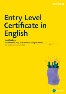 Entry Level Certificate English Specification