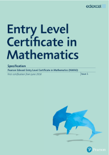 Entry Level Certificate in Mathematics (2017) specification