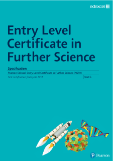 Entry Level Certificate in Further Science specification