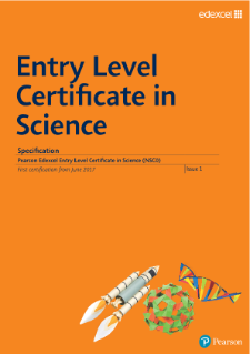 Edexcel Entry Level Certificate in Science specification