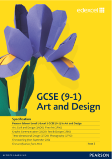 Edexcel Gcse Art And Design 2016 Pearson Qualifications