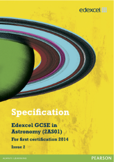Edexcel GCSE Astronomy 2012 specification