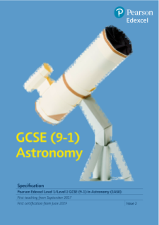 Edexcel GCSE Astronomy 2017 specification