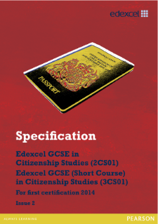 Edexcel GCSE Citizenship Studies 2012 specification