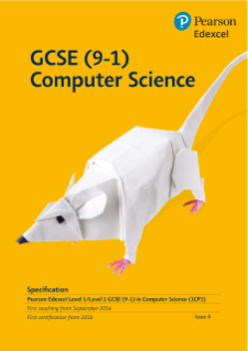Edexcel GCSE Computer Science 2016 specification