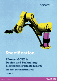 Edexcel GCSE D&T - Electronic Products 2012 specification