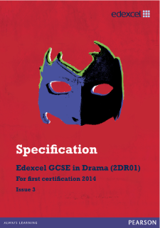 Edexcel GCSE Drama 2012 specification