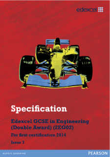 Edexcel GCSE Engineering 2012 specification