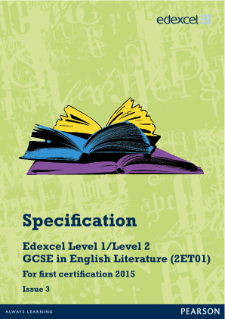 Edexcel GCSE English Literature 2010 specification
