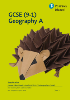 Edexcel GCSE (9-1) Geography A specification