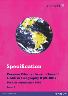 Edexcel GCSE Geography B 2012 specification