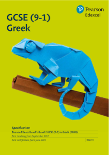 Edexcel GCSE (9-1) Greek specification